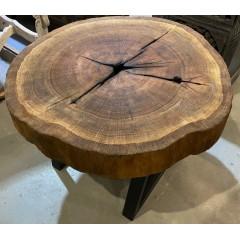 Masywny stolik dębowy72x50
