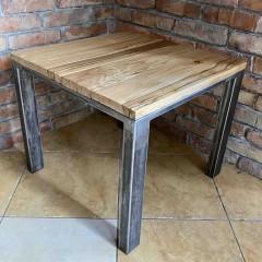 Drewniany loftowy stolik 60x60x50