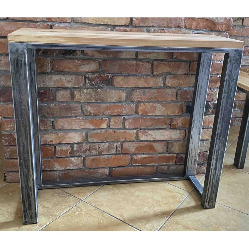 Industrialna drewniana konsola 90x80x30