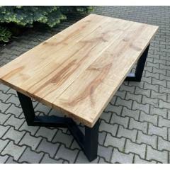 Masywny dębowy stół 160x90x76