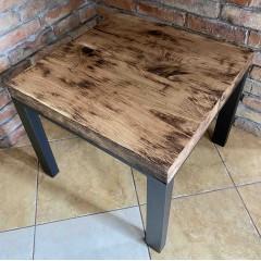 Drewniany stolik w stylu LOFT 60x60x50