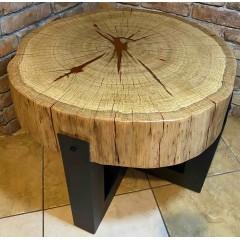 Dębowy stół z żywicą 70x14x51