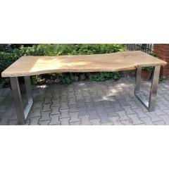 Drewniany industrialny stół 205x80x76