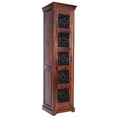 Wąska drewniana witryna 195x50x45