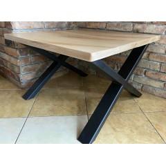Loftowy drewniany stolik 80x80x50