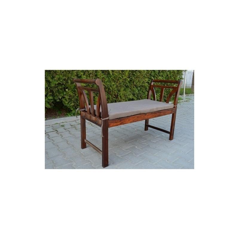 Drewniana indyjska ławka 75x115x45