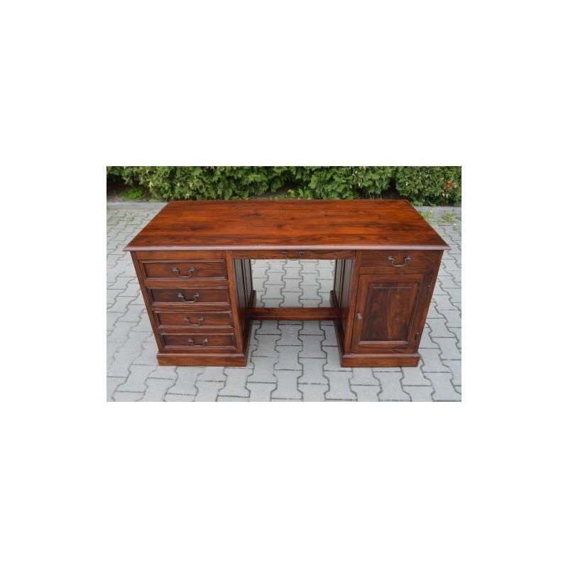 Indyjskie drewniane biurko 76x150x70